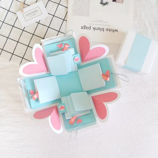 Sweet Home Gift Box Cards - Watermelon Sweetheart x Two-sided flip card version - Handmade card / Valentine's card / Explosion card / Explosion box