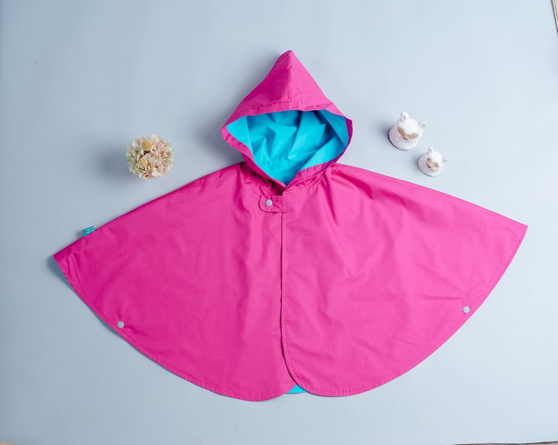 Double-sided cloak - pink vs anti-splash 26 hand-made non-toxic jacket baby children's clothing