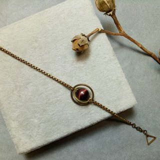 ▲ Mars - red tiger eye bracelet brass / Universe galaxy