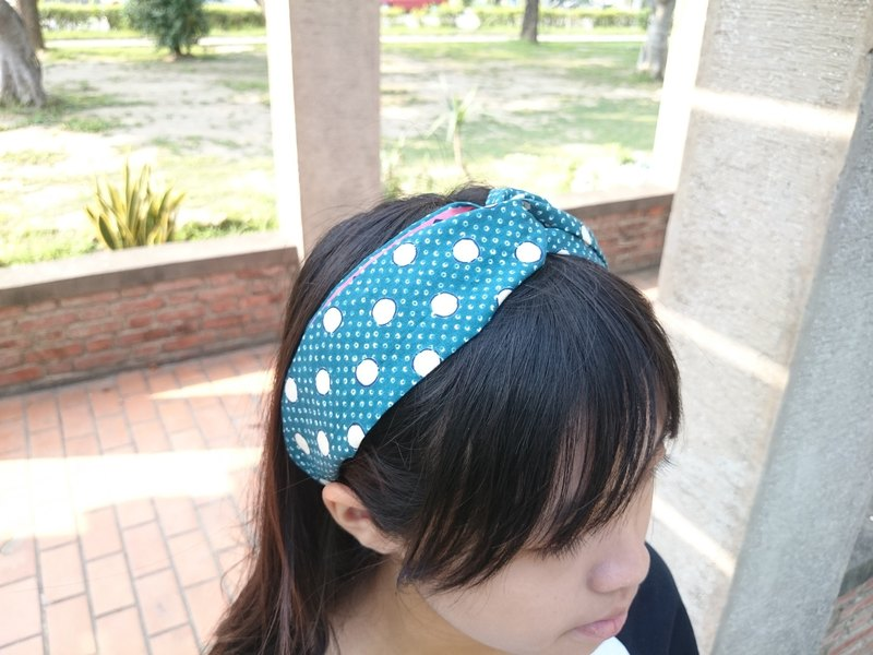 Small bubble cross hair band hairband*SK*