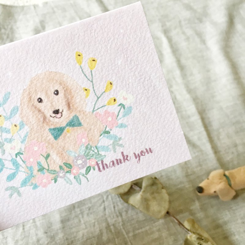 Dachshund thank you card (card + envelope) mother's day card