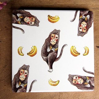 TAIWAN macaque ceramic coaster