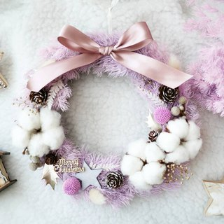 Pink-Purple Dreamless Penglai Pine Wreath Course (also available for purchase)