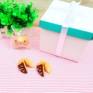 Birthday gift customized lucky cookie black chocolate fun pink love shape 18 into the gift box with a bag