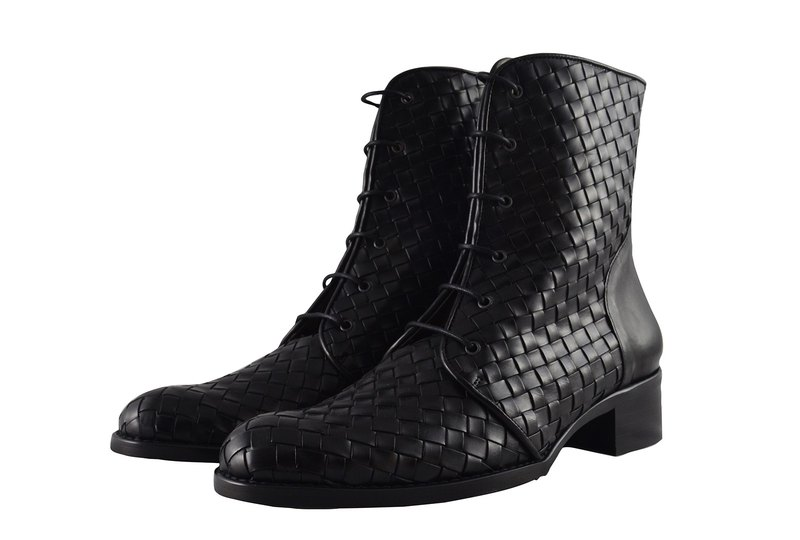 ITA BOTTEGA [Made in Italy] woven military boots