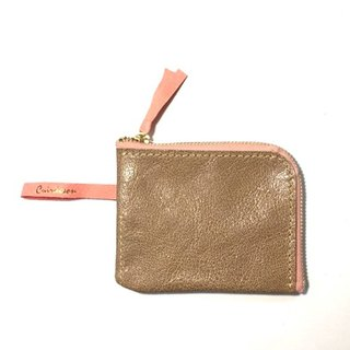 CU198GY L zipper coin purse half wallet mini wallet compact wallet leather smart wallet unisex