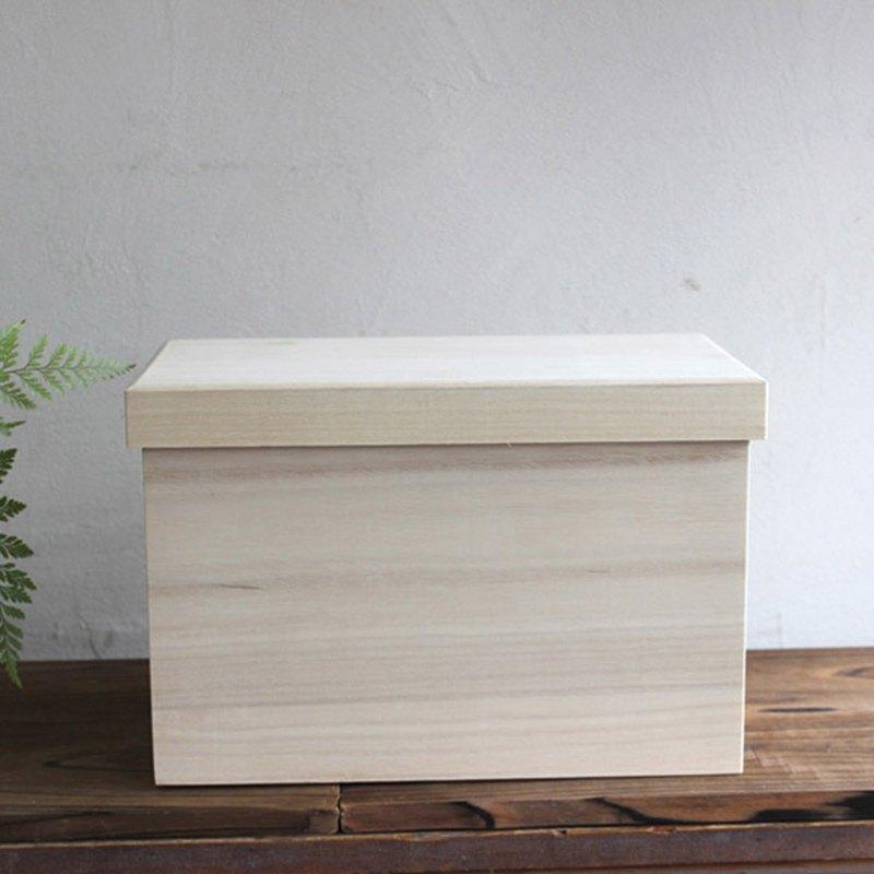 日本製造麵包盒平底鍋固體2葉片儲物盒Kiri盒木製米瓶