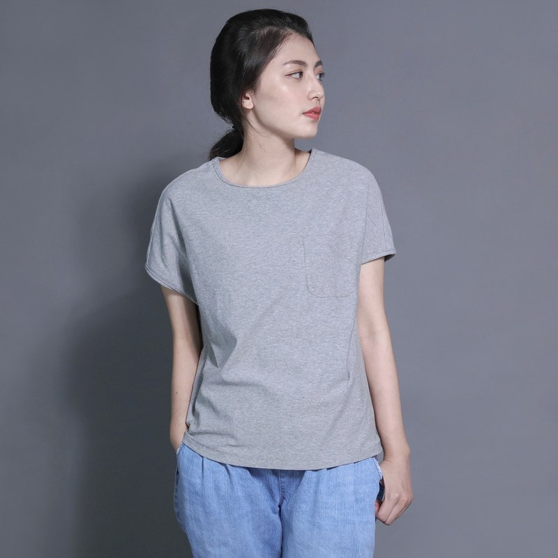 SU: MI said Wayfarer Traveler Shoulder Tops_7SF111_ 灰