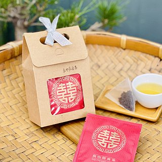 Taitung Luye - honey fragrant black tea - hand picking original leaf three-dimensional tea bag 6 into / 囍 word tea bag