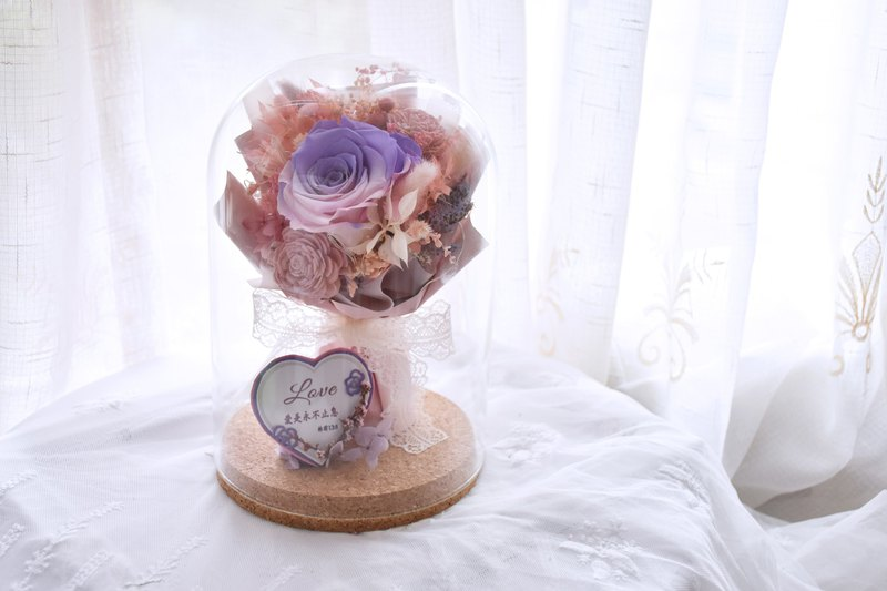 [Our.Little_Space] bouquet glass bottle / gift / dry flower / preserved flowers / custom