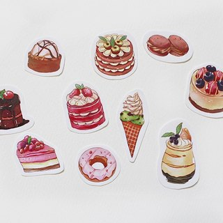 Dessert stickers combination dessert / 10 account to start a sticker diary stickers