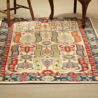Scorpion handmade carpet special wool rug Turkish traditional design 184×121cm