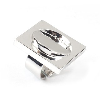 Recovery Multi-View Square Ring (Bright Silver)