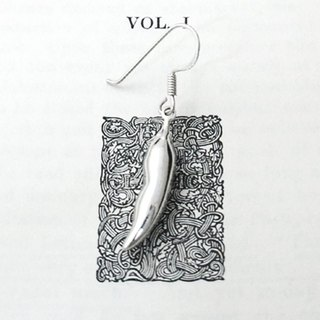 GT peppers sterling silver earrings (single)