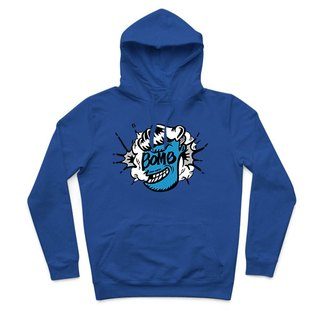 Mr.BOMB - sapphire blue - Hooded T-shirt