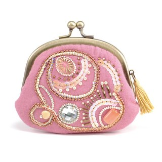 A wide opening tiny purse, coin purse, pill case, gorgeous pink pouch, No,10