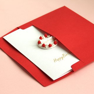 Creamy Strawberry Birthday Cake Card