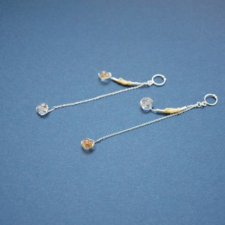 In the decoration, rotating | 925 Silver pendant earrings gold onions