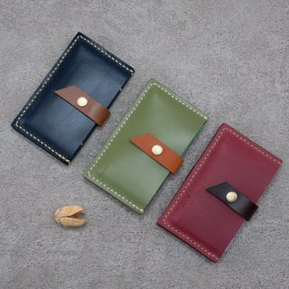 Be Two | handmade double card holder / deep blue / coffee color / double card holder