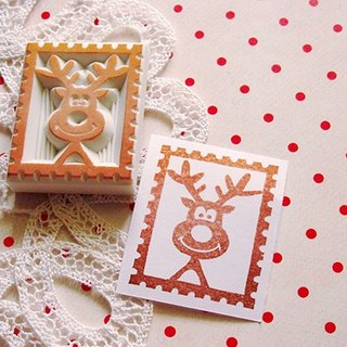 Apu Handmade Rubber Stamps Cute Elk stamp seal