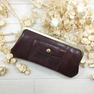 168 PU long wallet pocket cowhide large Long wallet / pouch / pocket / cow leather / big / unisex / cool / fashionable / popular wrapping / packaging / bag / leather / large / neutral / cold / old / fashionable