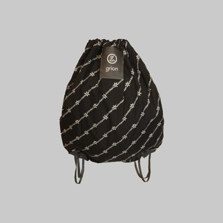 groin waterproof bag - back section (M) - Limited subsection - subsection white flowers black cloth suit