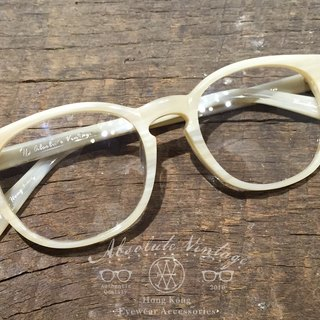 Absolute Vintage - Robinson Road (Robinson Road) Immature pear-shaped plate frame glasses - White White