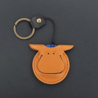 Hippopotamus Shaped Leather Card Holder Button Access Card Gogoro Key Set
