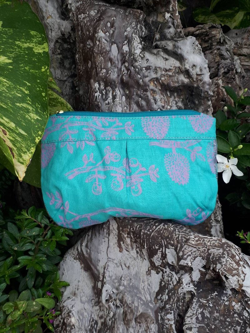 ZIPPY POUCH M TM TREE PRINTED