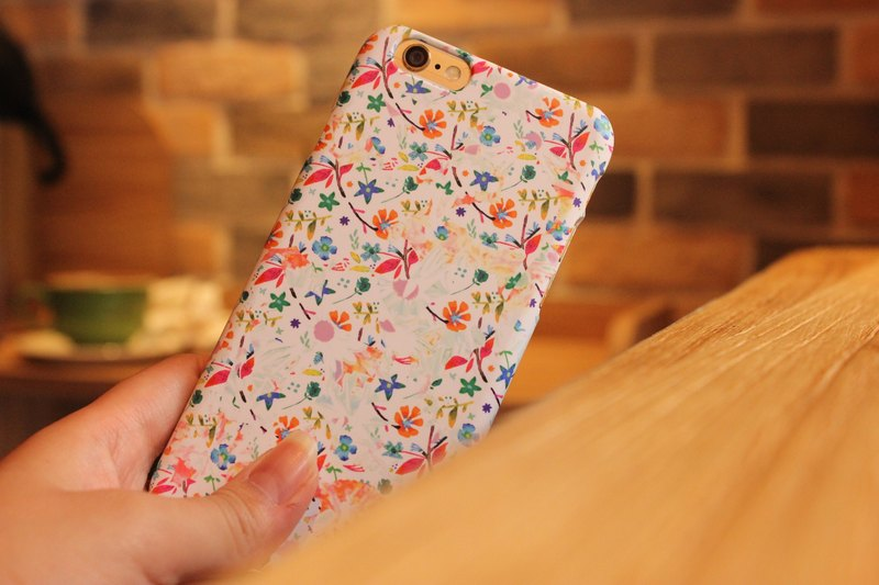 Korea customers buy reflux rate of the first top-scratch paint Hand-made Textured Phone Case [peach] GATO Floral Design Hall Model APPLE i6S / plus / i6 / i6 + / i5 / SE / Samsung Samsung S7 / S7Edge / S6Edge + / S6 / S6Edge / S5 / Note5 / Note4 / LG G5 /