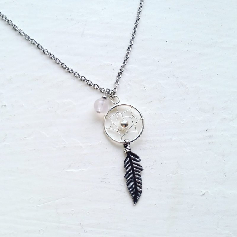 Dream catcher, Natural stone, Necklace