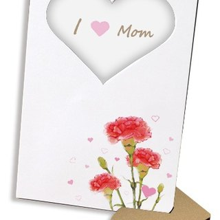 Carnation carnation 30 seconds recording sound and light card photo frame Mother's Day gift DIY talking card