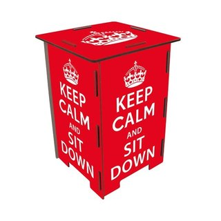 [Free shipping] Germany Werkhaus color printing classic wooden stool with storage box - keep calm