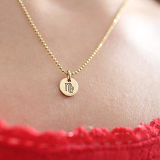 Horoscope sign-brass necklace-Virgo