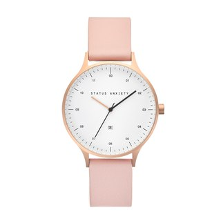 INERTIA Leather Watch_Gold White-Blush / Rose Gold White - Pink Strap