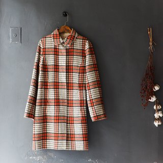 River tide - Tokyo classic checkered youth log time sheep antique coat coat coat wool wool wool vintage overcoat