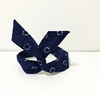 [Christmas goods] soft wire hair bands hair bands ::: diffusion (industrial blue) :::