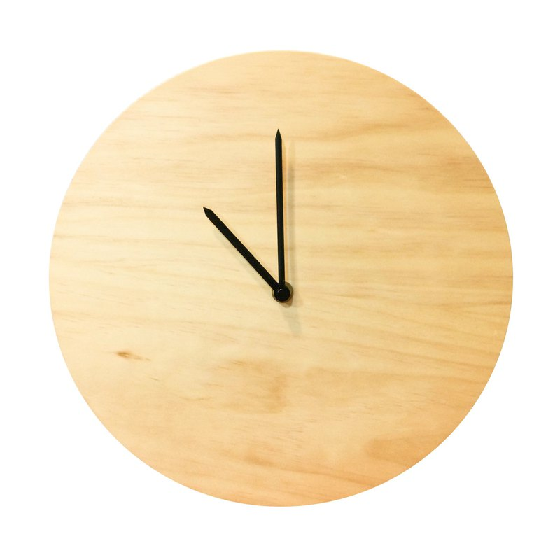 Log surface clock