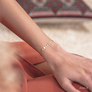 ITALY Bracelet and its dainty chain in 14k Gold-Filled