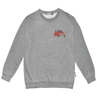 British Fashion Brand -Baker Street- Little Stamp:Driving Alpaca Printed Sweater