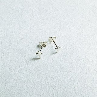 Cross Earrings Sterling Silver