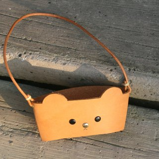 Handmade Leather - Eco Bear Drink Bag/Engraved English Name