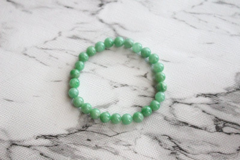 Journal-Yangyang pure natural Yang green jade (Myanmar jade) boutique beaded bracelet exclusive items