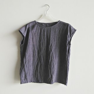 Square top linen gray purple