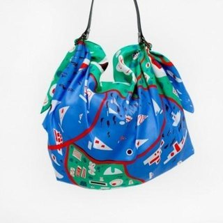 Stockholm Green Furoshiki & Leather Strap Black set
