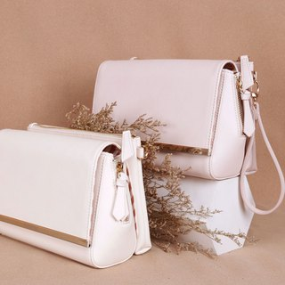 [ New Product] Beige Color DAY BAG – Faux Leather Shoulder Bag Set