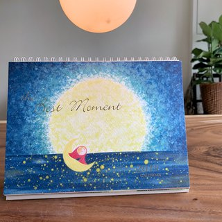 2019 Watercolor Wind Calendar / Desk Calendar / Calendar / Christmas Gift / Exchange Gift - The Best Moment