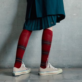 靴下ポピータータン / irregular / socks / tartan / check / red