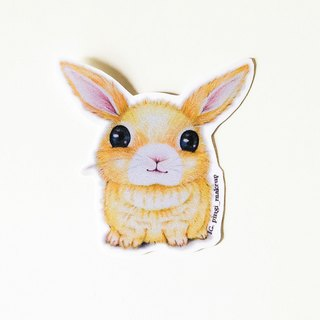 Rabbit stickers噗噗 rabbit bounce sticker group color pencil hand-painted color pencil sticker pack