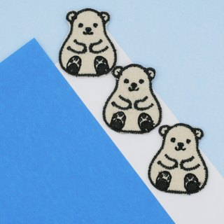 Mini Polar Bear Iron Patch
